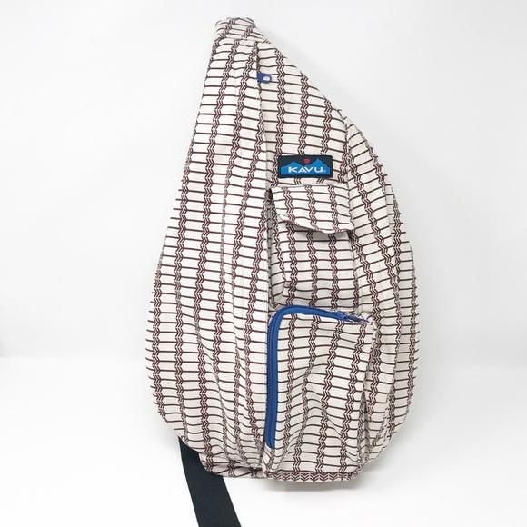 a929412936 Kavu Handbags - Kavu Sling Rope Travel Backpack Canvas Deco Tiles